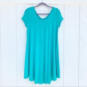 FASHIONOMICS Teal Blue T-Shirt Dress L